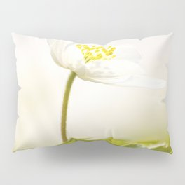 Wood Anemone Blooming in Forest Pillow Sham