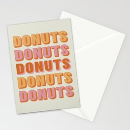 Donuts Stationery Cards