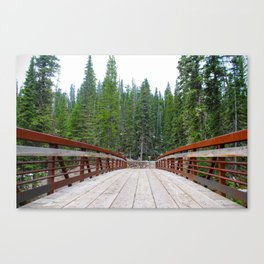 Crossing Bridge Canvas Print