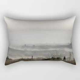Foggy landscape Rectangular Pillow