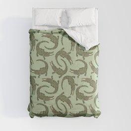 Crocodiles (Camo Palette) Comforters