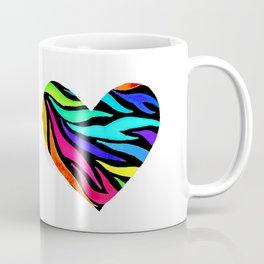 Rainbow Zebra Print Heart! Coffee Mug