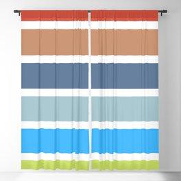 70s Vintage Style Retro Stripes Blackout Curtain