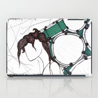 drum iPad Cases featuring Drum Man by Meagan Harman