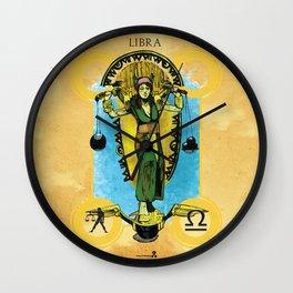 "Ars Tarot of the 12 Zodiac: ""Libra - Justice"" Wall Clock"