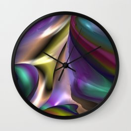 Marshmallow Stuff (3D Fractal Digital Art) Wall Clock
