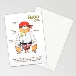 Hugo the Sloth Stationery Cards