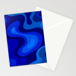 Multicolor Blue Liquid Abstract Design Stationery Cards