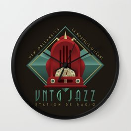 Vintage Jazz Radio Station Wall Clock