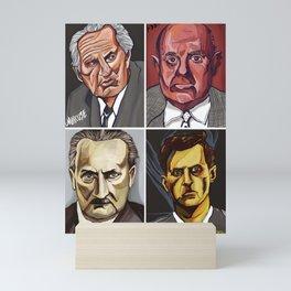 Marcuse Adorno Heidegger Wittgenstein Mini Art Print