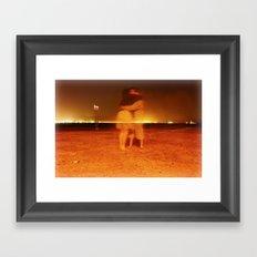 swimming prohibited  Framed Art Print