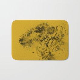 Mustard Sheep Bath Mat