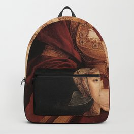 Hans Holbein the Younger - Betrothal portrait of Anne of Cleves Backpack