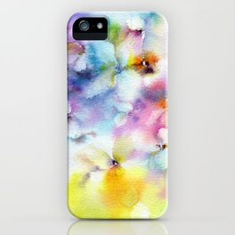 Abstract flowers. Watercolor floral pattern. Colorful delicate florals. iPhone Case