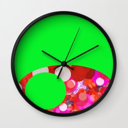 SexyPlexi dots on green  Wall Clock