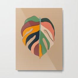 retro monster leaf minimal art  Metal Print