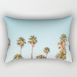 Palm trees in the sun Rectangular Pillow