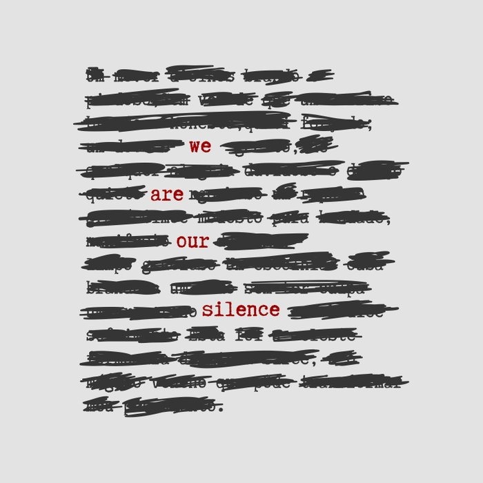 We are our silence Duvet Cover