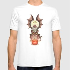 Trick-or-Treat Totem White Mens Fitted Tee MEDIUM