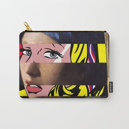 Vermeer's Girl with a Pearl Earring & Lichtenstein's Girl with a Hair Ribbon Carry-All Pouch