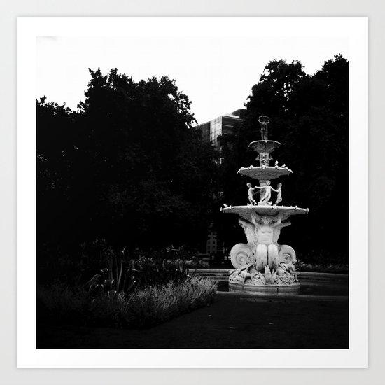 City Fountain Art Print
