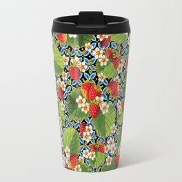 Strawberry Heraldic Travel Mug