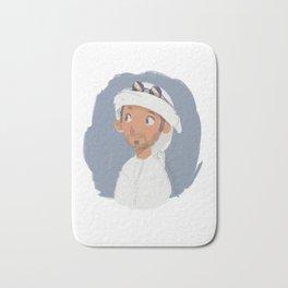 Young Emirati man wearing Hamdaniya Bath Mat