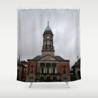 dublin Shower Curtains featuring Dublin Castel by Chalene Malekoff