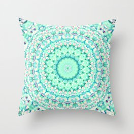 ARABESQUE SPRING MINT Throw Pillow