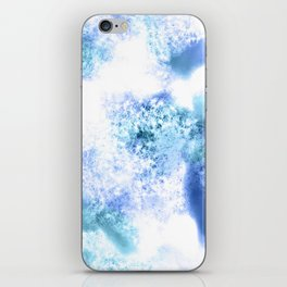 Bright Blue Marble Crystal Watercolor iPhone Skin
