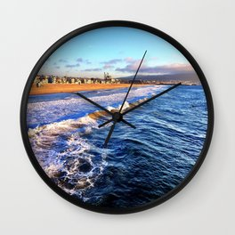 "Hermosa Beach ""On the Pier 2"" Wall Clock"