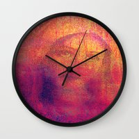 regina mills Wall Clocks featuring Salve Regina by Ganech joe