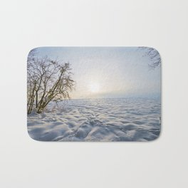 winter meadow Bath Mat