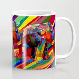 Full Color Abstract Elephant Coffee Mug