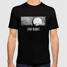 Sad Robot SMALL Black Mens Fitted Tee