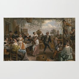 Jan Steen The Dancing Couple 1663 Painting Rug