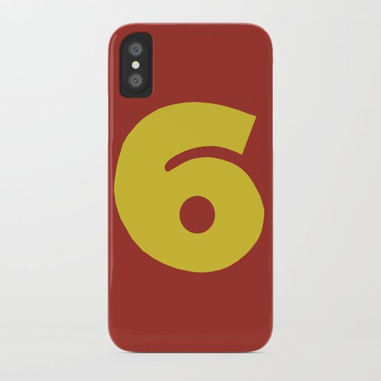Number 6 iPhone Case