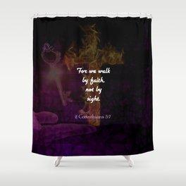 2 Corinthians 57 Bible Verse Quote About Faith Shower Curtain