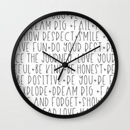 Family Reminders + Values Wall Clock