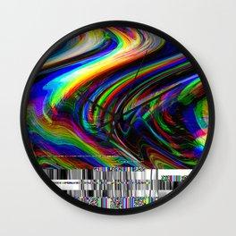 Rainbow modern glitch effect Wall Clock