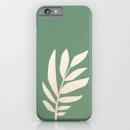 Cut-out Plant - Green iPhone Case