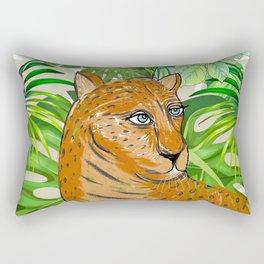 Tropical Leo Rectangular Pillow