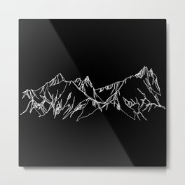 Night Watch :: Tantalus :: Single Line Metal Print