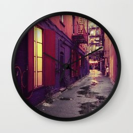 Evenings on the Lower East Side, New York City Wall Clock