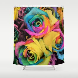 Beautiful Color Roses in Bloom Shower Curtain