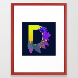 Letter D Framed Art Print