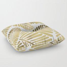 Tropical Banana Leaves – Gold Palette Floor Pillow