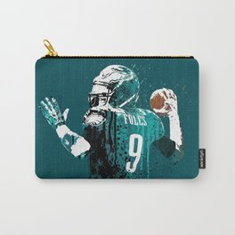 Sports art _ Nick Foles on green Carry-All Pouch