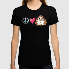 Peace, Love and Hedgehogs T-shirt