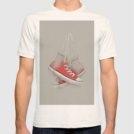 red sneakers T-shirt